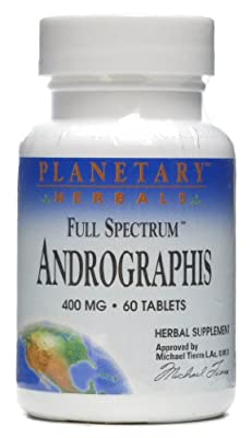 Planetary Herbals - Andrographis 400 mg. - 60 Tablets Formerly Planetary Formulas