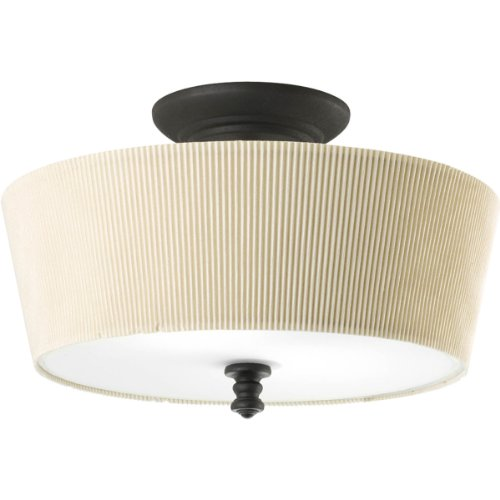 Progress Lighting P2827-80 Med Semi-Flush, 2-100-Watt