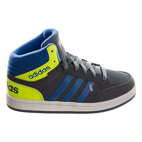 Adidas Hoops Light Mid unisex bambino, pelle liscia, sneaker alta, 30 EU