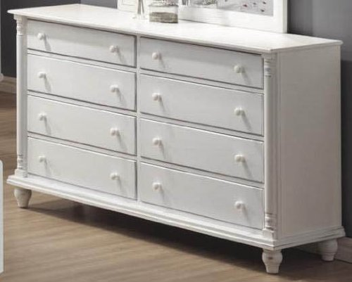 Kayla Dresser  8 Drawers in Distressed White