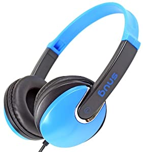 Snug Plug n Play DJ Style Blue Kids Headphones for Children - 3.5mm Standard Jack Plug