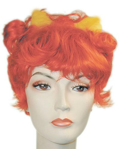 Pebbles Flintstones Pebbil Wig Bone - Orange Auburn