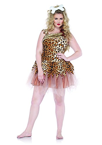 Leg Avenue Women's Plus-Size 2 Piece Cave Girl Cutie