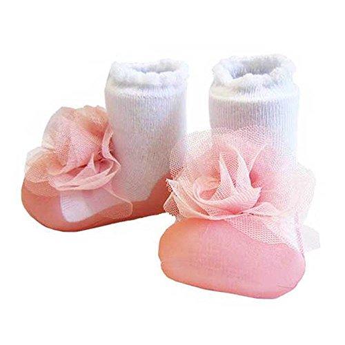 (アティパス)Attipas ベビーシューズ コサージュ ピンク L(靴サイズ12.5cm)