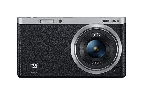 """Samsung Nx Mini 20.5Mp Cmos Smart Wifi & Nfc Compact Interchangeable Lens Digital Camera With 9-27Mm Lens And 3"""" Flip Up Lcd Touch Screen (Black)"""