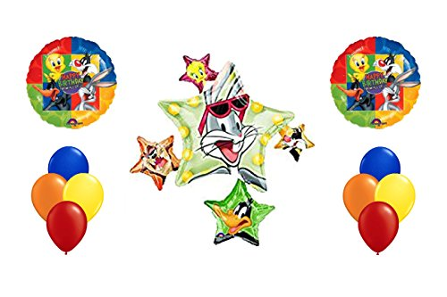 Looney Tunes Mylar Latex Balloon Bouquet~11ct (Bugs Bunny Spoon compare prices)