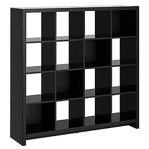 kathy ireland Office by Bush Furniture New York Skyline 16-Cube Bookcase/Room Divider, Modern Mocha