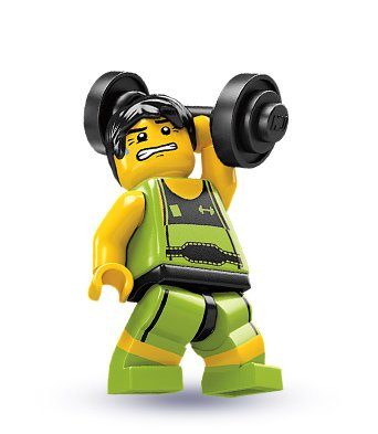 LEGO - Minifigures Series 2 - WEIGHTLIFTER - 1
