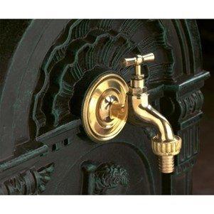 Robinet pour fontaine en laiton poli Rustique