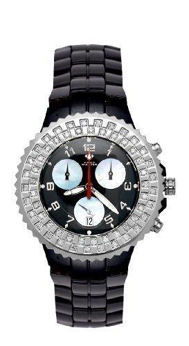 AQUA MASTER AMCB 0113MW19AA5 - Reloj para hombres, correa de cerámica color negro