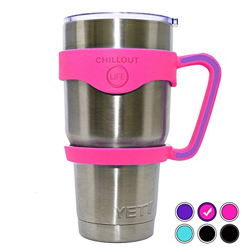 Pink Handle for Ozark Trail Tumbler 30 oz RTIC Simple Modern & Other 30oz Tumblers. CHILLOUT LIFE Anti-Slip Handle For YETI Tumbler BPA-free (Pink & Purple Handle Only)