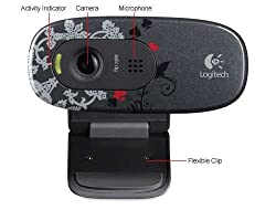 Logitech C270 HD Webcam - Dark Aces