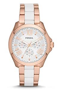 Fossil Women's AM4546 Cecile Analog Display Analog Quartz Rose Gold Watch