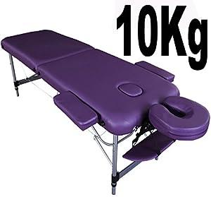 Lettino professionale da massaggio Knightsbridge ultraleggero -10 kg- in alluminio -viola- di ...