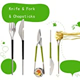 niceEshop(TM) Knife Fork Chopsticks Combination Tableware-Random Color +Free niceEshop Cable Tie