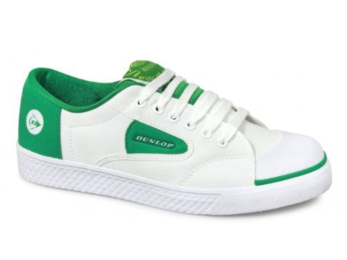 Dunlop Adult GREEN FLASH Retro Trainers