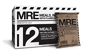 MRE (Meals, Ready to Eat) Premium case of 12 Fresh MREs with Heaters. 5 Year Shelf Life. by Meal Kit Supply