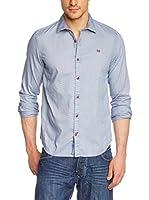 Napapijri Camisa Hombre Galdir (Azul Claro)