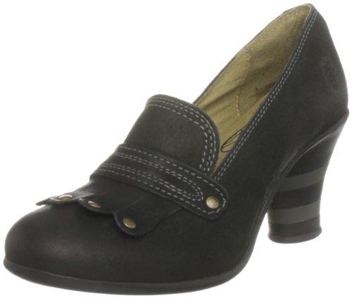 Fly London Women's Peep Leather Black Mary Janes P141985006 8 UK