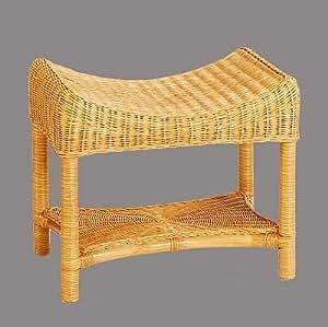 rattan hocker neu in der farbe honig mit ablage. Black Bedroom Furniture Sets. Home Design Ideas