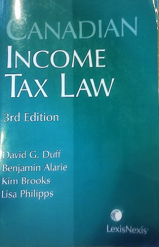 Canadian Income Tax Law