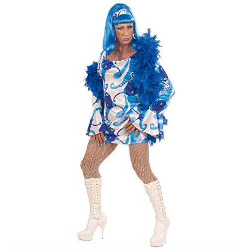 Sexy Travestie Kostüm 70er Kleid Kostüme Männerkostüm Travestiekostüm Drag Queen blau