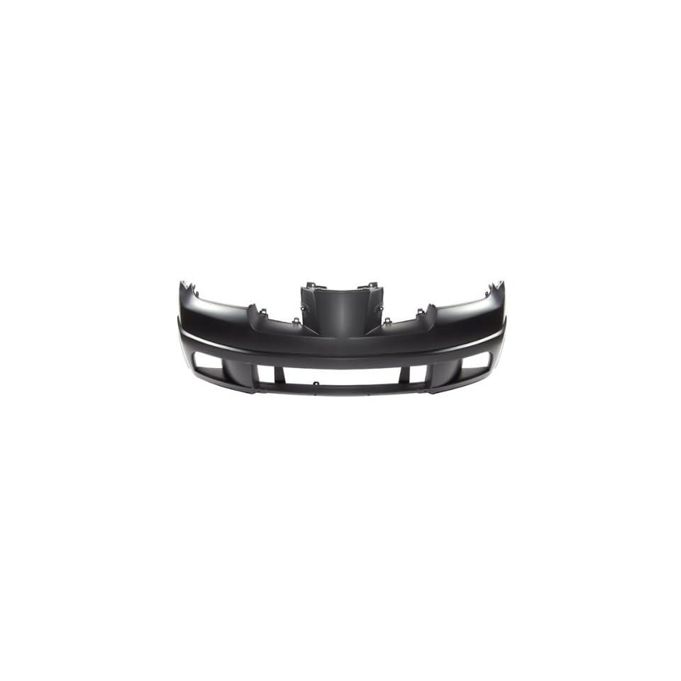 CarPartsDepot, Primered Plastic Front Bumper Cover New Replacement, 352 351618 10 PM MI1000286 MN133214