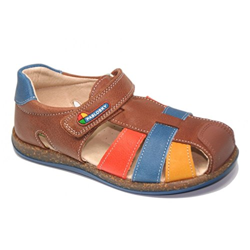 Sandali e pantofole per bambino, colore marrone, marca PABLOSKY, modello Sandali E Pantofole per Bambino PABLOSKY VANITY III Marrone, marrone (Leather), 12 UK (47)