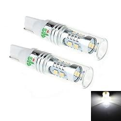 See 2Pcs T10 8W 8x2323SMD 450LM 6000K White Light LED for Car Turn Steering / Reversing Lamp (DC 12-24V) Details