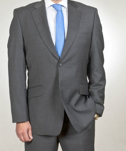 Mens suit in grey, Brand: Aldo Colitti 44 (34 Regular)