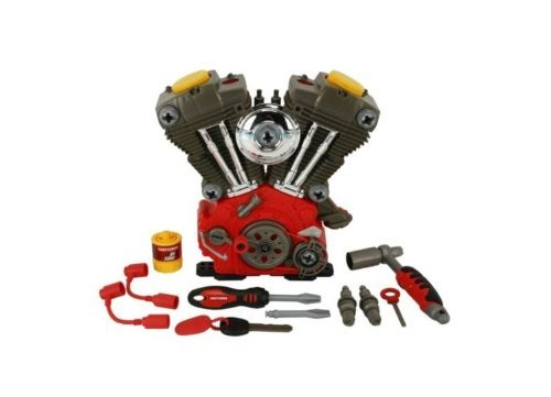 MY FIRST CRAFTSMAN TOY V TWIN MOTOR OVERHAUL PLAY SET CRUISER HARLEY