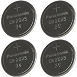 Panasonic Multi Pack 4 X Cr2025 Dl2025 3V Lithium Coin Cell Batteries