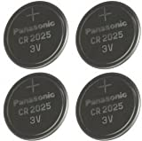 Multi Pack 4 X Panasonic Cr2025 Dl2025 3V Lithium Coin Cell Batteries