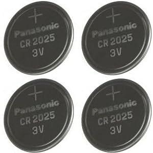 Multi Pack 4 X Panasonic CR2025 DL2025 3V Lithium Coin Cell Batteries