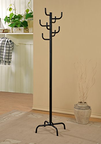 Metal 8 Hooks Coat Jacket Purse Scarf Rack, Black (8 Hook Coat Rack compare prices)
