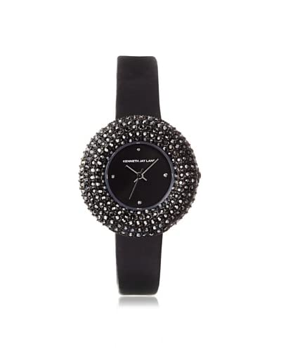 Kenneth Jay Lane Women's 2501S-01 2500 Series Black Satin Hematite Watch