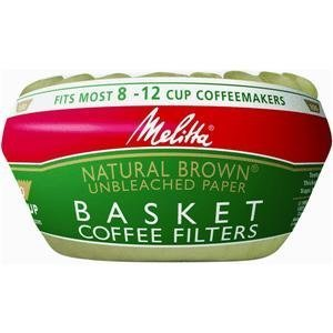 Melitta 629092 Basket Coffee Filters (Unbleached Basket Coffee Filters compare prices)