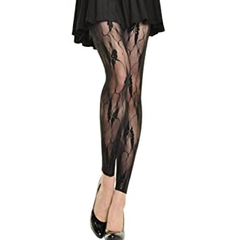 Angelina Lace Footless Tights, #5290_27FL