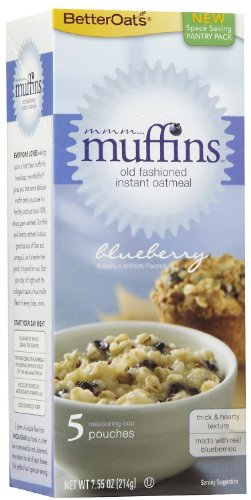 Better Oats Mmmmuffins Old Fashioned Oatmeal With Flax - Blueberry Muffin - 6 Boxes
