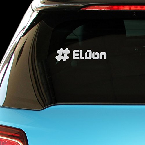 ELDON Male Name Car Laptop Wall Sticker (Matte Silver) (Eldon Shirt compare prices)