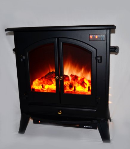 AKDY Electric Fireplace Heater Free standing Black W