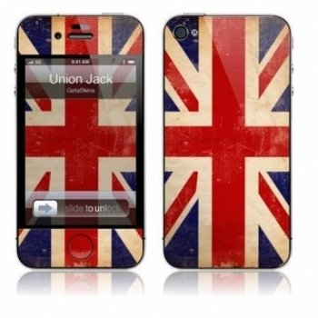 "GelaSkins Protective Skin for the iPhone 4 ""Union Jack"" with Access to Matching Digital Wallpaper Downloads"