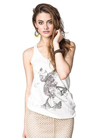 Maison Scotch Girl with Sunglasses White Tank White / Black / brass Large