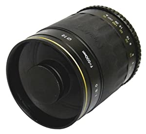 Opteka 500mm f/8 High Definition Telephoto Mirror Lens for Nikon DF, D4, D3X, D3, D800, D700, D610, D600, D300S, D90, D60, D7100, D7000, D5300, D5200, D5100, D5000, D3200 and D3100 Digital SLR Cameras