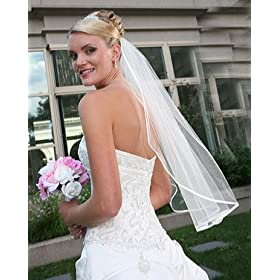 Single Layer Ribbon Edge Veil