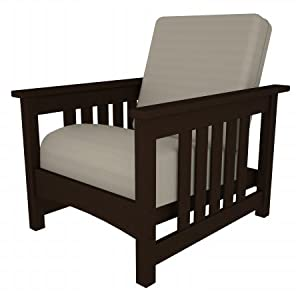 Club Mission Deep Seating Chair Finish: Mahogany