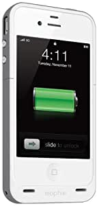 Mophie Juice Pack Plus Case and Rechargeable Battery for iPhone 4/4S - White (Verizon, AT&T and Sprint)