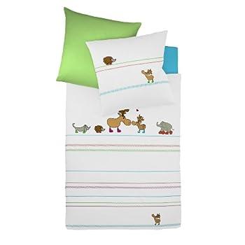 pas cher fleuresse housse de couette enfant avec fermeture clair 100x135 cm taie d 39 oreiller. Black Bedroom Furniture Sets. Home Design Ideas