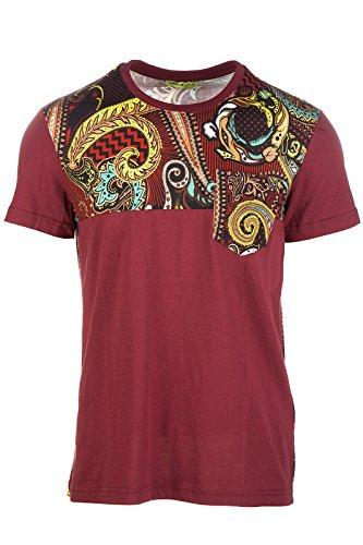 Versace Jeans t-shirt maglia maniche corte girocollo uomo print baroque paisley regular bordeaux EU 48 (UK 38) B3GOB7G0 OUM607