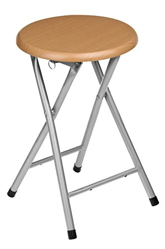 premier-housewares-natural-rubberwood-folding-stool-with-silver-legs-45-x-30-x-30-cm